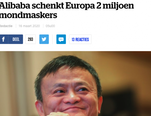Alibaba schenkt België twee miljoen mondkapjes